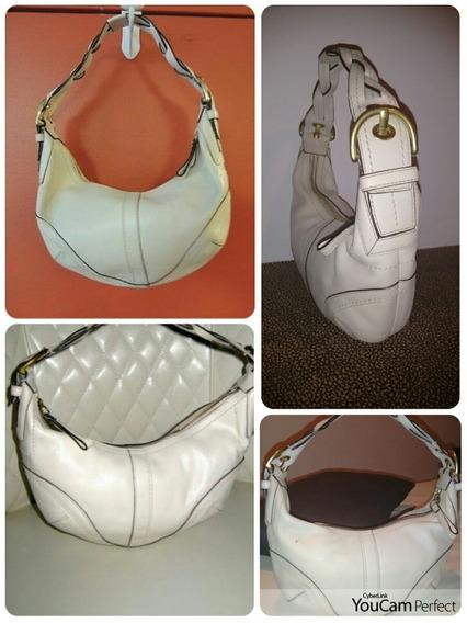 Bolsa Coach Original Soho Braided White Leather. Tipo Hobo