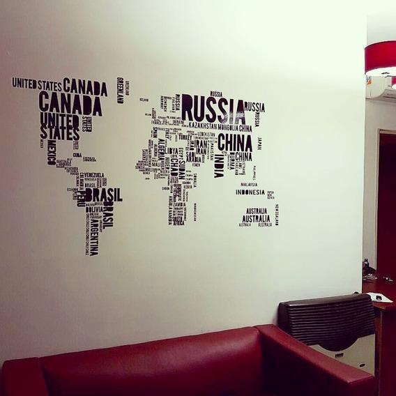 Vinilos Decorativos Mapas - Mapamundi - Paises