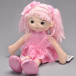 Boneca De Pano Bailarina Glitter Rosa Buba