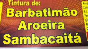 Tintura Barbatimão Aroeira Sambacaitá (micoses Pele) 02 Unid