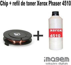 Chip + Refil De Toner Phaser 4510