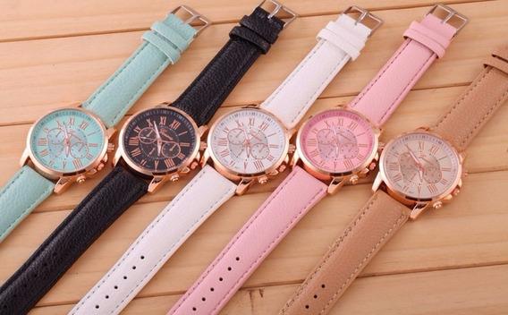 Relógio Feminino Quartz Kit C/ 5 Unds Geneva - Frete Grátis