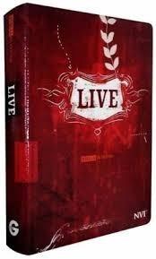 Bíblia De Estudo Live Jovem Luxo Estampada Vermelha