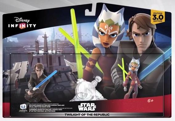 Disney Infinity 3.0 Star Wars Twilight Of The Republic Set Caja Dañada