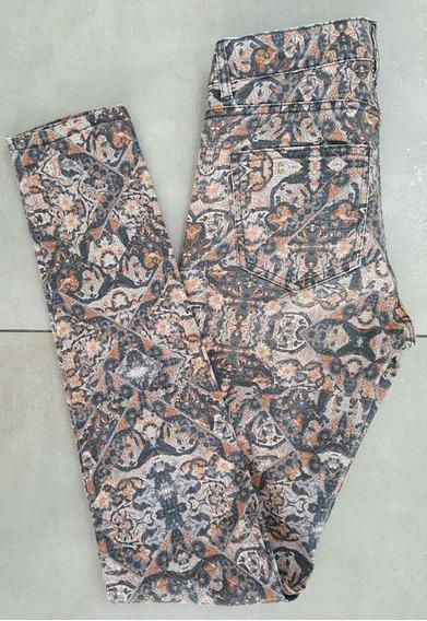 Pantalon Chupin Estampado H&m Talle 34