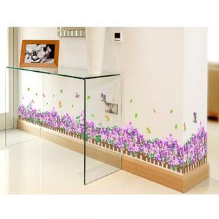 Adesivo De Parede Flores E Borboletas Rodapé Armário Espelho