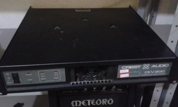 Potência Cv 200 Crest Audio Made In Usa Na Brother