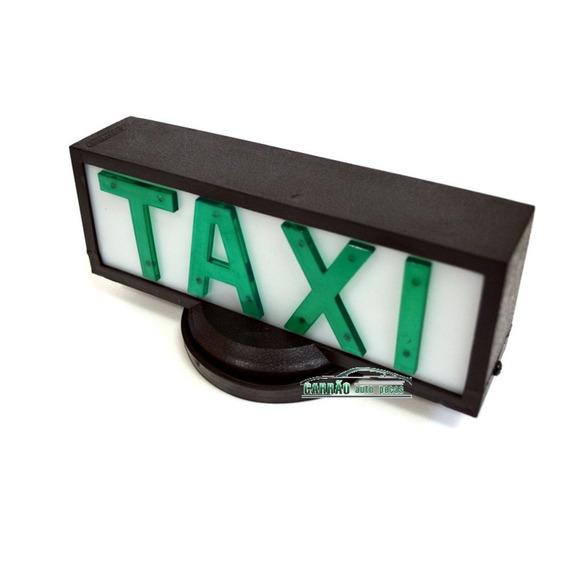 10 Luminosos Para Teto De Taxi Retangular Com Base De Íman