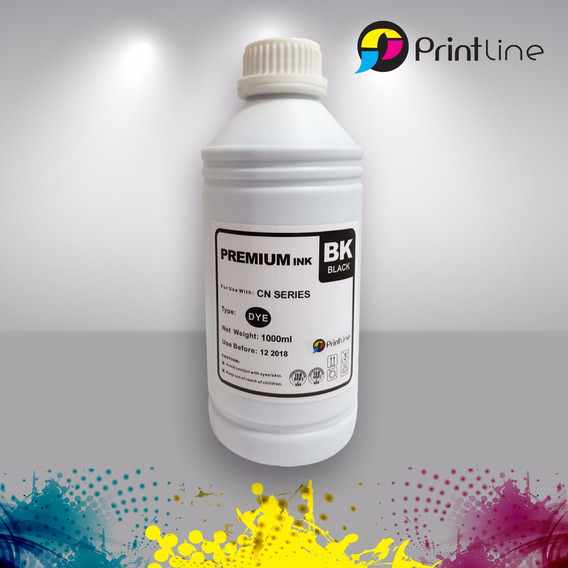 Tinta Hp Y Canon 1 Litro Recarga Printline Negra
