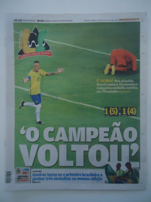 Brasil Medalha De Ouro Futebol Rio 2016 Jornal Lance Poster
