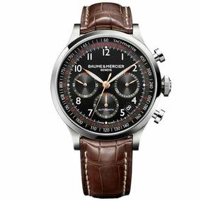 Relógio Baume & Mercier Masculino Couro Marrom - M0a10067