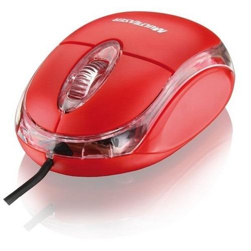 Mouse Usb Vermelho Luminoso Multilaser (mo003)