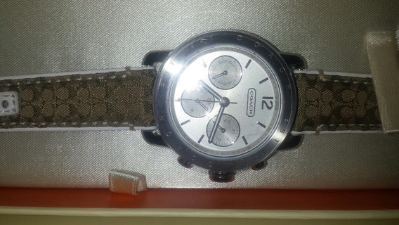 Reloj Coach Color Plata, Original, Caja.