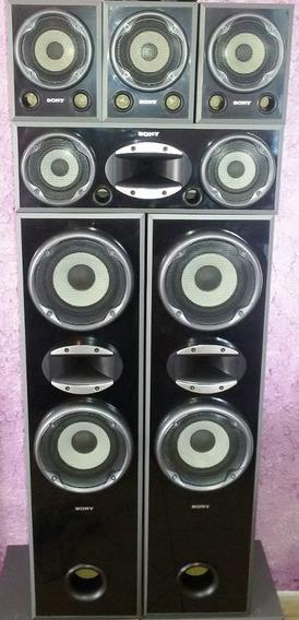 Kit 06 Caixas Sony Muteki Black Piano 140w Cada - Impecaveis