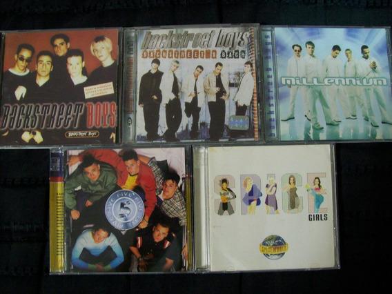 Backstreet Boys - Five - Spice Girls - Lote 5 Cd´s