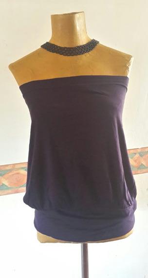 Top Strapless Violeta.t M .medidas.san Isidro