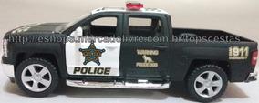 Miniatura Carro Chevrolet Silverado 2015 Polícia 1/46