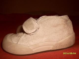 Zapatillas Color Crudo Gamusada