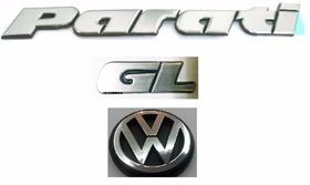 Kit Emblemas Volkswagen Parati Gl Mala Bola 97 + Brinde F