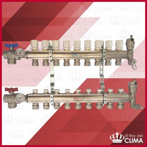 Imagen 1 de 2 de Colector Completo Luxor De 9 Circuitos /piso Radiante Italia