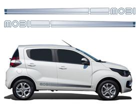 Kit Adesivo Lateral Novo Fiat Mobi 2016 2017