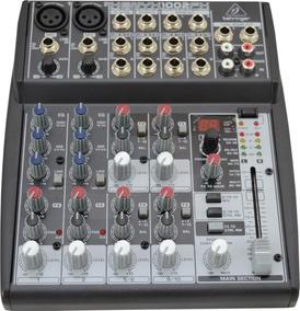 Mesa De Som 10 Entradas Bus Mixer Xenyx 1002fx Behringer Nfe