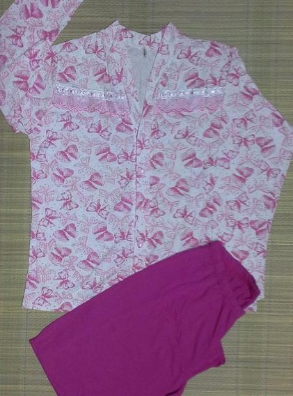 Pijama Feminino Longo Com Bordado