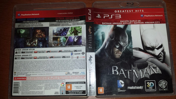 Batman Arkham Asylum + Arkham City Ps3 Mídia Física