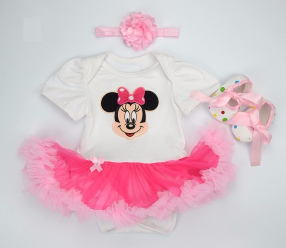 Body Saia Tutu Minnie Princesa Bailarina