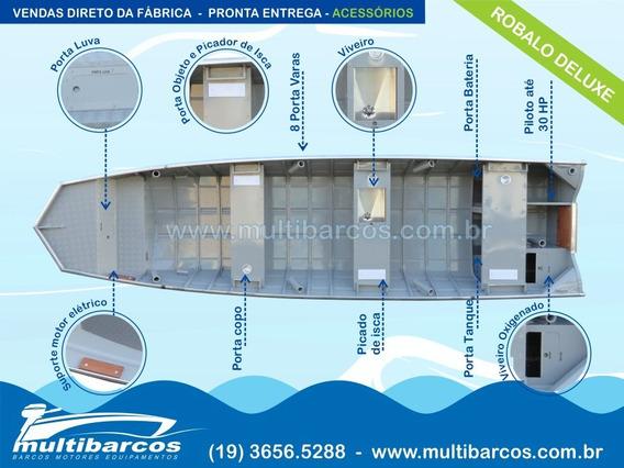 Barco De Alumínio Robalo Deluxe