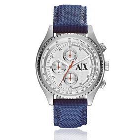Relógio Masculino Armani Exchange Analógico Ax1609/8an Nylon