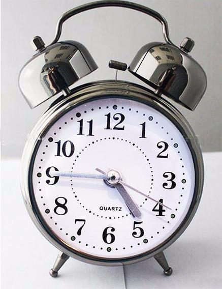 Relógio Despertador Analógico De Ponteiro - Clássico 2 Sinos