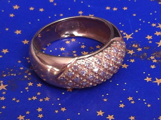 Anel Em Ouro 18 K-750,6.1 Gramas, Aro:20-21,c/brilhantes.