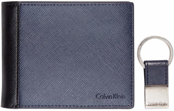 Billetera Marca Calvin Klein Con Llavero Para Caballero