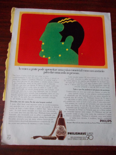 Propaganda Antiga - Philishave Super 90 - Sheraton Hotel