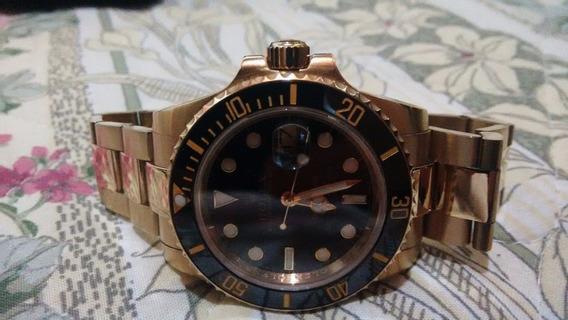 Relógio De Luxo Banhado A Ouro 18k