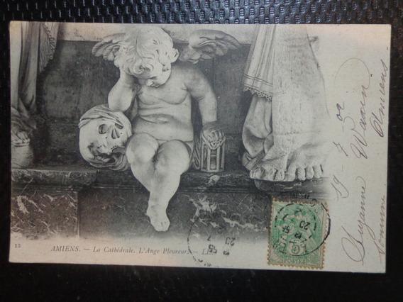 Antigua Postal De Francia Año 1902 Circulada A Bs. As.