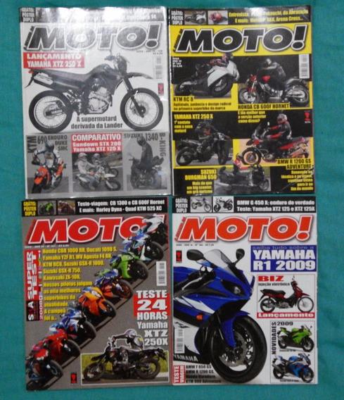 Lote 4 Revistas A Revista Da Moto! Ed. 159, 160, 161, 166.