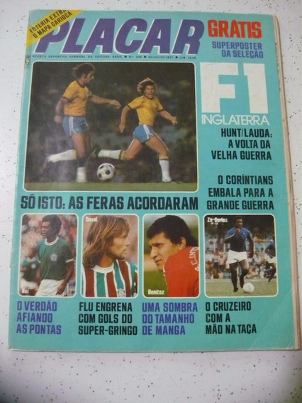 Revista Placar 378 S/post Cruzeiro Inter Flamengo Bahia 1977