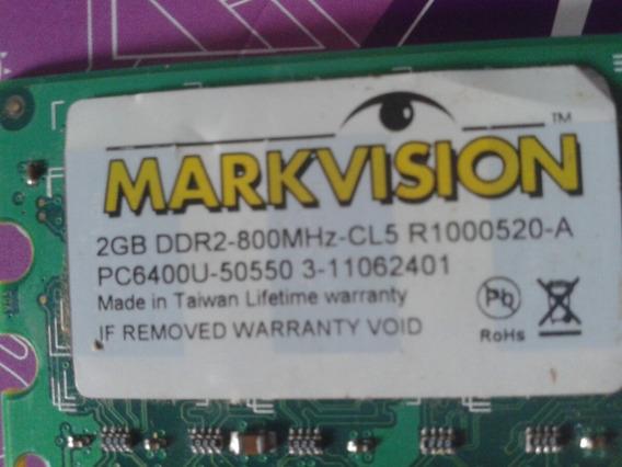 Memória 2gb Ddr2 800mhz Markvision