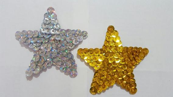 Aplique De Lentejuelas Para Murga: Estrella 8x8cm