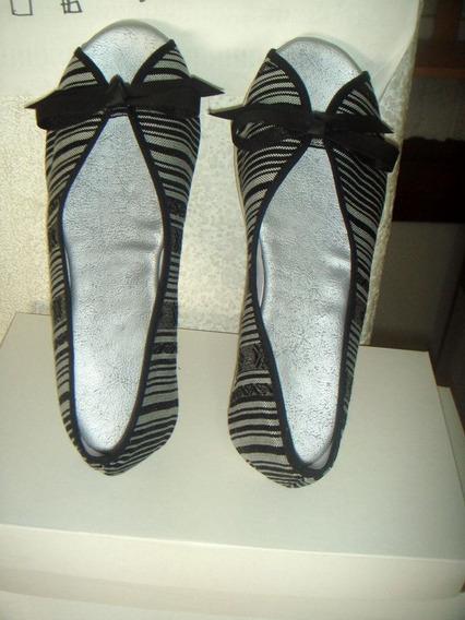 Balerinas De Aguayo Blanco Y Negro 37 Y 38