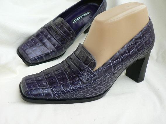Zapato Clasico Nº 37 38 Maggio & Rossetto Cocodrilo