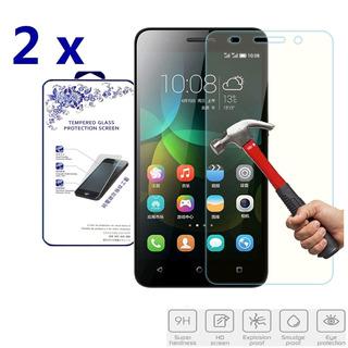 2x Protectores De Vidrio Templado Para Huawei Honor 4c G Pla