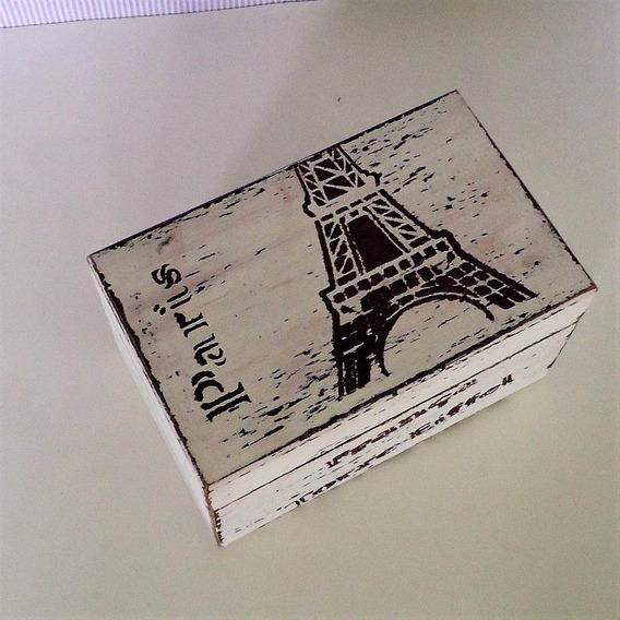 Porta Jóias Aveludado - Paris Torre Eiffel