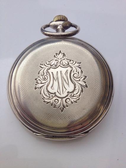 Relógio Bolso Antigo Longines Prata 900 Linda Peca.