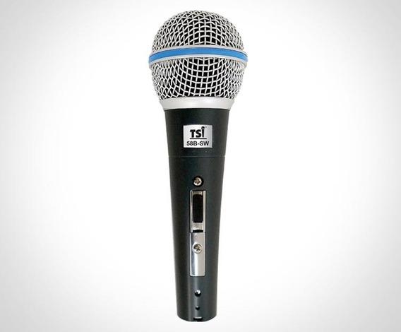 Microfone C/fio De Mão Tsi 58b Sw
