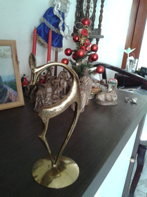 Lindo Cervo Em Bronze 23 Cm