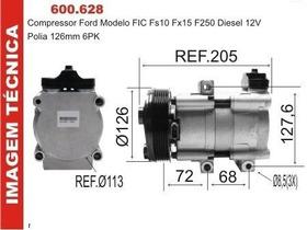 Compressor F250 Motor Cummins Saida Conexao Em Cima 6pk