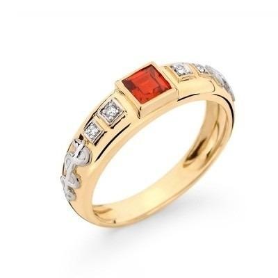 Anel De Formatura Ouro 18k Pedra/diamantes Natural..